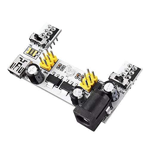 Módulo electrónico MB102 2 Canal 3.3V 5V módulo de tablero suministro de electricidad blanco cortar el pan Dedicado módulo de alimentación MB102 sin soldadura tablero de pan 10Pcs Equipo electrónico d