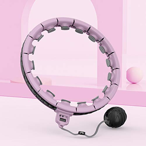Sucizi smart weighted hula fitness hoop for adult women girls weight loss fashion 2021 new design upgraded premium quality purple