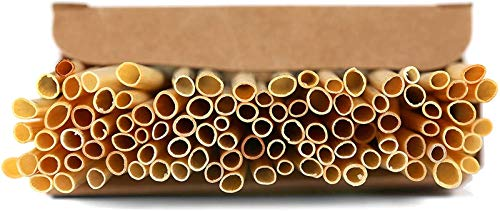 Super Idee 200 Weizenhalme füllung Nisthilfe Nisthülsen 20 cm lang für Wildbienen Insektenhotel Insektenhaus Durchmesser 2-4 mm Niströhren für Insektenhotel Basteln Füllmaterial zum selber Bauen