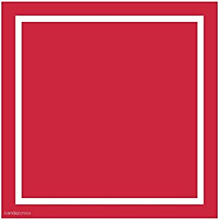 Andaz Press Square Labels, Solid, Blank, Red, 40-Pack