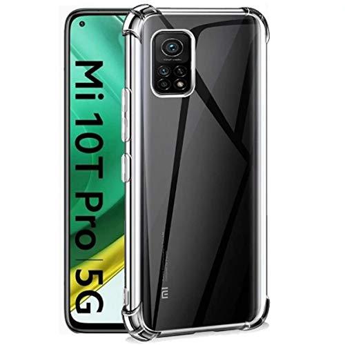 Aerku Hülle für Xiaomi Mi 10T Pro, R&umschutz [Kratzfest] [Anti-Fall] [Stoßdämpfung] Ultra-dünne TPU Silikon Gel-Abdeckung Transparent Hülle Handyhülle für Xiaomi Mi 10T Pro[Transparent]