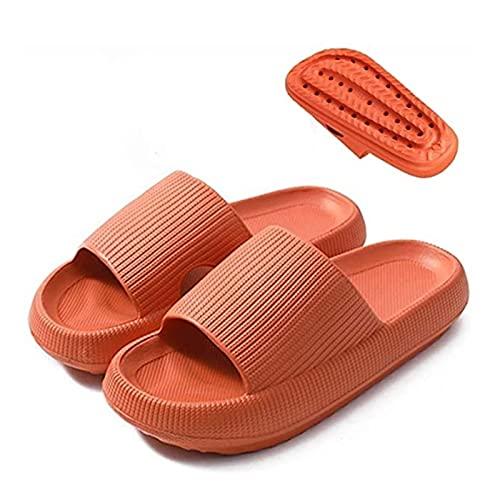 Coussin Pantoufles, sèche-oreilles à séchage rapide à séchage à l'extérieur Sandales de sandales d'intérieur pour femmes, 1,6in épais solaire super doux massage douche salle de bain piscine femme femm