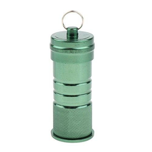 perfeclan Auslaufsicherer Mini Aufbewahrungsbehälter Für Den Außenbereich, Pillendose, Schlüsselring, Geldkapsel - Grün B