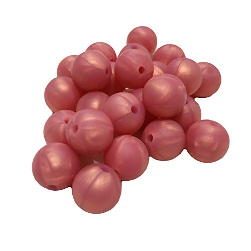 100 cuentas redondas de silicona de 12 mm sueltas de perlas de silicona para mamá collar de pulsera de joyería para hacer bricolaje
