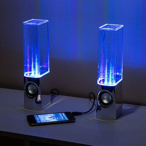Best Buy! Dancing Water Show Computer Speakers LED Water Speakers Show Watershow Fountain Light Blac...