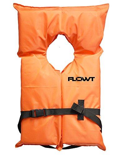 Flowt 40000-UNVPK AK-1 Type II Life Jacket, Orange, Adult Universal, Pack of 4 Clear Storage Bag