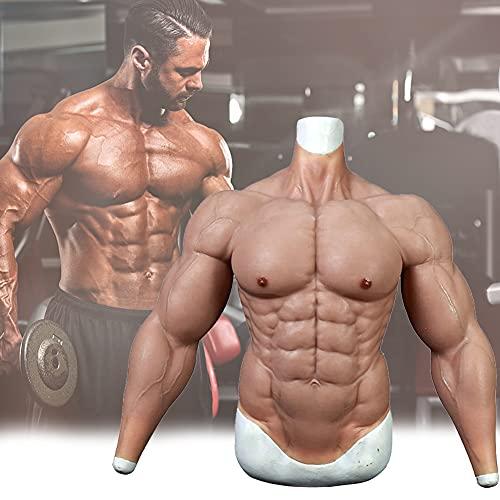Männliche Brust Silikon Muskelanzug, Simulation Haut Falscher Muskeln-Silikon, Muskelanzug Maskerade Kostüm für Männer oder Frauen verwenden