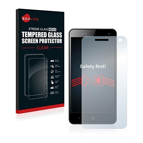 Savvies Panzerglas kompatibel mit ZTE Blade L3 - Echt-Glas, 9H Härte, Anti-Fingerprint