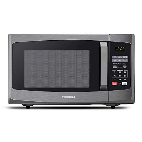 Toshiba 800 w 23 L Microwave Oven with Digital Display, Auto Defrost, One-touch Express Cook with 6 Pre-Programmed Auto Cook, and Easy Clean - Black - ML-EM23P(BS)