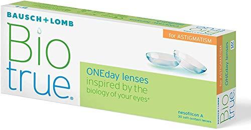 Biotrue Oneday Astigmatism Tageslinsen weich, 30 Stück BC 8.4 mm / DIA 14.5 / CYL -1.25 / Achse 90 / 1.25 Dioptrien