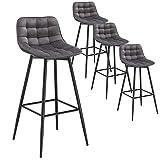 WOLTU 4er Set Barhocker Barstuhl Hocker Tresenhocker Bistrohocker Design Stuhl S...