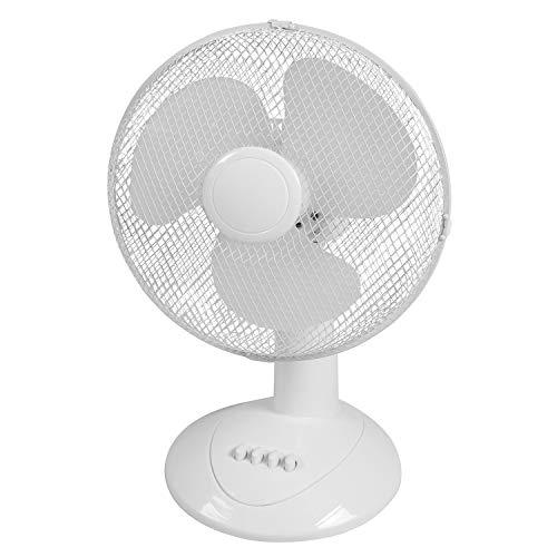 Ø 30 cm ventilator tafelventilator oscillerend airconditioning luchtkoeler 3-traps snelheid in wit