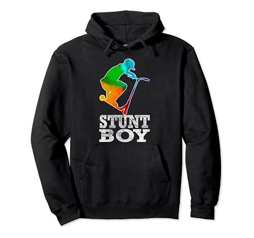 Stunt Boy per piloti di scooter acrobatici e ragazzi skater Felpa con Cappuccio