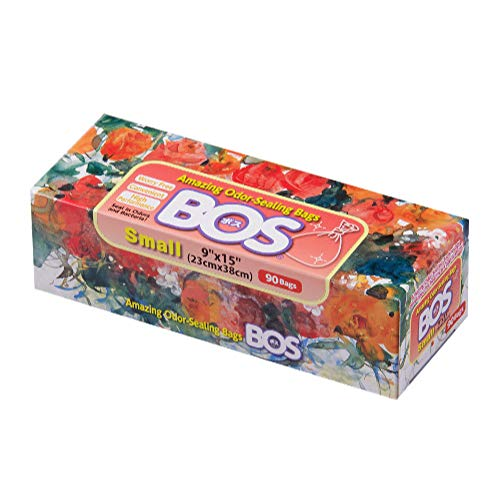 BOS Amazing Odor Sealing Disposable Bags for Diapers, Pet Waste or any Sanitary Product Disposal -Durable and Unscented (90 Bags) [Size: S, Color: White]