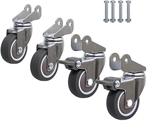 1.5 inch Wheel Accessoires rol Universele Wiel Universele Mute Wheel wieg Baby Bed Pulley Roller met Remwiel 4 B
