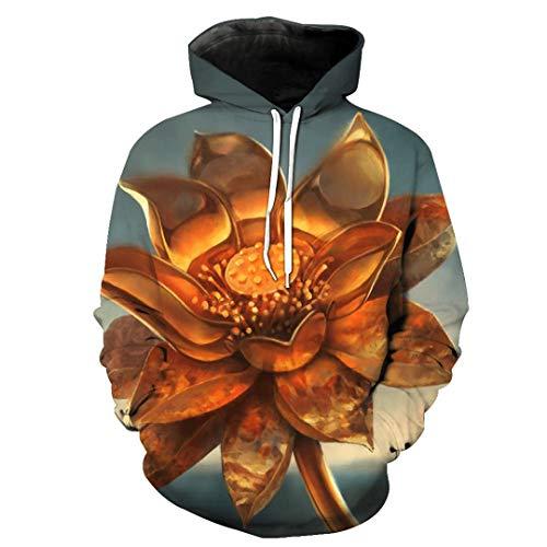 JSR-Hoodie Hombres/Mujeres Sudaderas con Capucha 3D Variación de impresión Lotus Otro patrón Sudaderas con Capucha Elegantes y Delgadas SMT-LMS-1017 XXXL