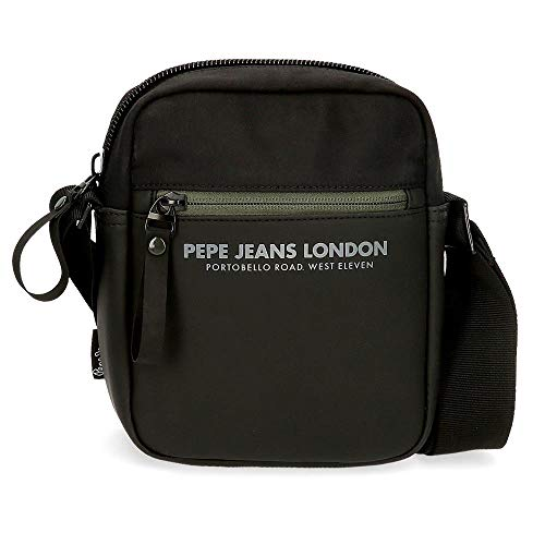 Pepe Jeans Sail Small Shoulder bag Black 15x19,5x6 cms Polyester and PU
