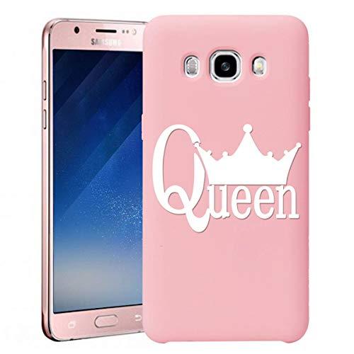 ZhuoFan Cover Samsung Galaxy J7 2016, Custodia Cover Silicone Rosa con Disegni Ultra Slim TPU Morbido Antiurto 3d Cartoon Bumper Case Protettiva per Samsung Galaxy J7 2016, Queen
