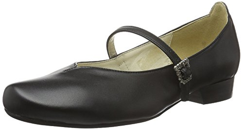 Hirschkogel Damen 3002705 Geschlossene Ballerinas, Schwarz (schwarz 002), 38 EU