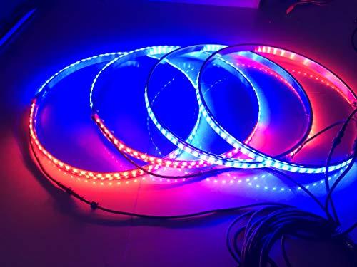 Sando Tech Dream Chasing Colors Flow 13.5''-17.5'' adjustable LED Wheel Ring Lights Rim Lights Tire Lights Blue-Tooth App Controlled 4 Lights