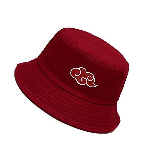 LUYLOG Bucket Hat Cloud Pattern Al Aire Libre All-Match para Hombres y Mujeres Pescador Sombrero Generoso,Red Wine