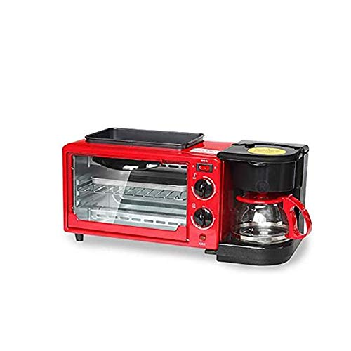 Ontbijt Machine Thuis Multi-Function drie-in-One Barbecue Box Automatische Mini Toaster Kleine Coffee Brood Pan