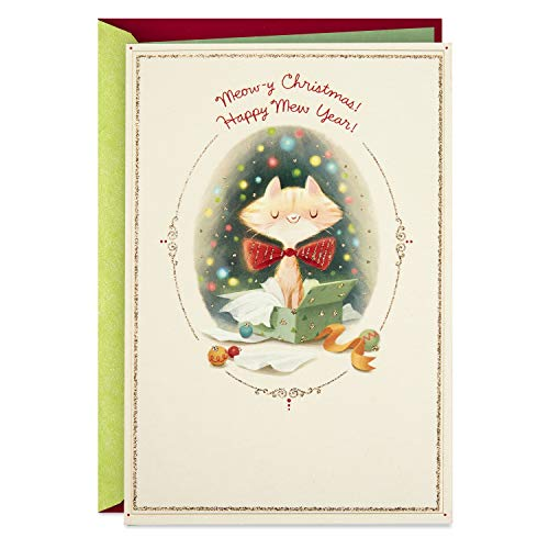 Hallmark Christmas Card from Dog, Meowy Christmas