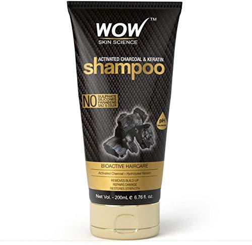 Glamorous Hub WOW Skin Science & Keratin Champú Sin sulfatos Parabenos Siliconas Sal y color (200 ml) (El embalaje puede variar)
