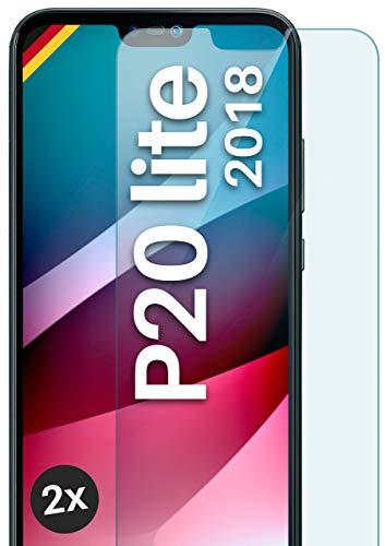 moex Panzerglas kompatibel mit Huawei P20 Lite - Schutzfolie aus Glas, bruchsichere Displayschutz Folie, Crystal Clear Panzerglasfolie, 2X Stück