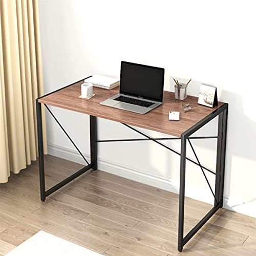 Folding Computer Desk No Assembly Required,40 Inches Study Writing Desks Tables,Simple Desks for Home Office Small Spaces
