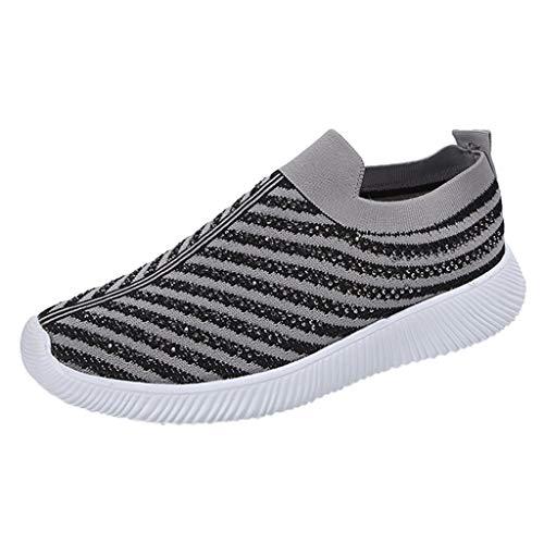Makalon Damen Casual Sportschuhe, Frau Mesh Laufschuhe Turnschuhe Mode Sneakers Weich Straßenlaufschuhe Freizeitschuhe Joggingschuhe Fitness Gym Schuhe Weich Shoes