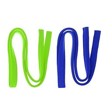 Homyl 1 Paire Housse de Tube pour Filtre à l'eau, Housse Isolé Thermique Manchon de Tuyau en Néoprène - Vert Bleu, 120cm