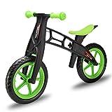 Sproou Bicicleta De Equilibrio para Niños De Plástico PP Reforzado, Bicicleta De Entrenamiento para Niños Pequeños, Niña, Sin Pedal, 2 3 4 5 6 Años De Edad Juguete para Montar, Regalo,Green