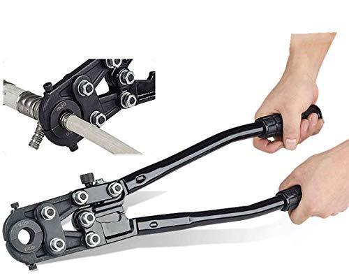 CGOLDENWALL CW-1625 Herramientas de prensado de tuberías hidráulicas Corrugadora Mecánica de Aluminio Plástico Tubo Abrazadera Alicates de prensado Alicates