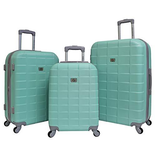 World Traveler Paseo Hardside 3-Piece Expandable Spinner Luggage Set, Mint, One_Size
