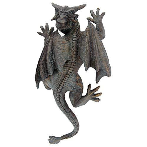 Design Toscano PD1571 Gargoyle Demon on the Loose Gothic Decor Wall Sculpture, Medium, 13 Inch, Polyresin, Bronze Verdigris Finish