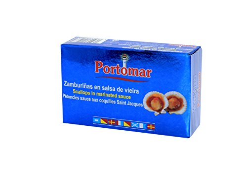Zamburiñas en salsa de vieira-Portomar-Pack 4 x 115gr- total= 460gr.