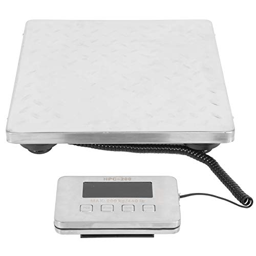 Postal Scale, LCD Digital Scale Durable Stainless Steel Smart Weigh Non-Slip Digital Shipping and Postal Weight Scale, 200KG Capacity for Shipping Weighing, Separable Digital Display Controller