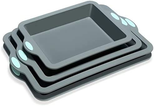 To encounter Silicone Baking Pans Set 4 Pieces Nonstick Bakeware Set with Baking Pans Baking product image