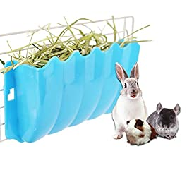 chunnron Hay Rack Rabbit Hay Rack Feeder Rabbit Accessories Rabbit Food Dispenser Rat Food Bowl Hamster Food Bowls Guinea Pig Hay Feeder Small Animal Feeder