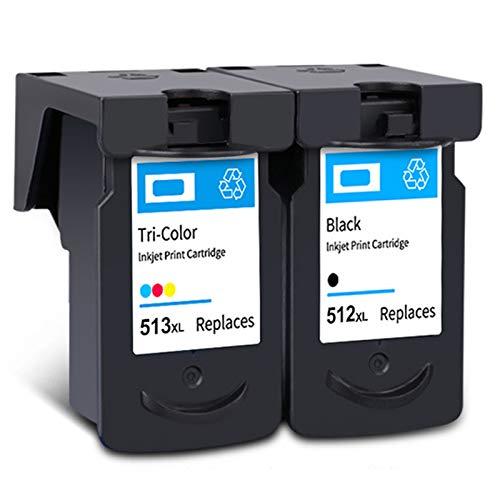 Cartucho de tinta PG-512XL CL-513XL, de alto rendimiento para impresora Canon Pixma MX 320 330 340 410 IP2700 IP2702 MP 230 240 260 272 negro y tricolor 1 negro 1 tricolor