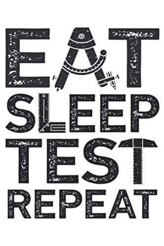 Eat Sleep Test Repeat Funny QA Engineer Software Bug Hunting Premium: Notebook Planner -6x9 inch Daily Planner Journal, To Do List Notebook, Daily Organizer, 114 Pages