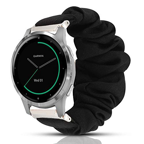 Compatible con Garmin vivoactive 4S Band, Blueshaw Tela Elástica Scrunchie Banda de reloj Mujer Lindo Reemplazo Correas para Garmin Vívoactive 4S 40 mm Smartwatch