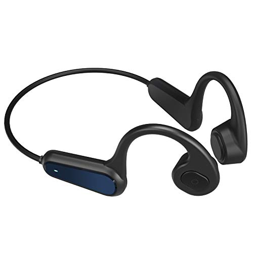 Bone Conduction Headphones Open-Ear Wireless Earbuds Bluetooth V5.0 Black Headsets for Sport Cycling Running Driving Gym