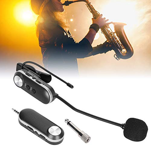 【𝐏𝐫𝐨𝐦𝐨𝐜𝐢ó𝐧 𝐝𝐞 𝐒𝐞𝐦𝐚𝐧𝐚 𝐒𝐚𝐧𝐭𝐚】Micrófono de saxofón, micrófono de viento, sonido puro ecológico, fácil de llevar, saxofón para el hogar