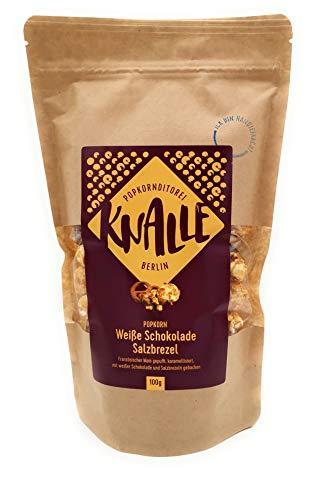 Popkornditorei Knalle UG Popkorn Weiße Schokolade Salzbrezel, 100 g