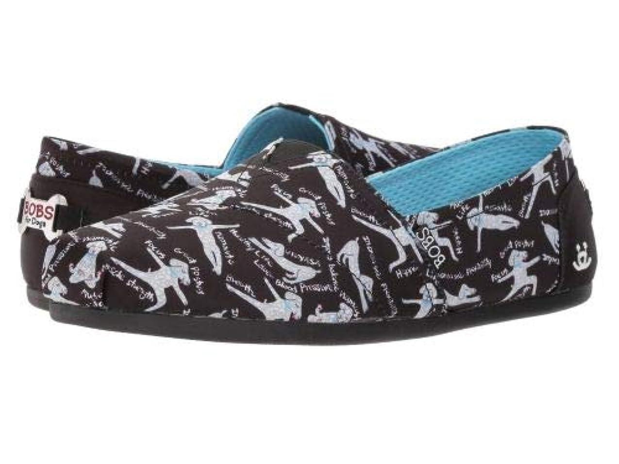 先駆者かりて不快なBOBS from SKECHERS(ボブス スケッチャーズ) レディース 女性用 シューズ 靴 フラット Bobs Plush - Black [並行輸入品]