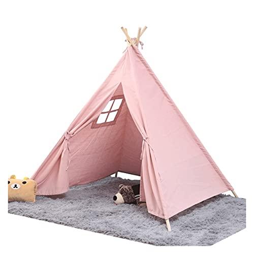 SONG Tienda Infantil, Carpa para niños portátiles, Tiendas emergentes para niños, para niños, niñas, niños Plegables, Tiendas de campaña, es Ideal para Uso en Interiores y Exteriores. (Color : Pink)