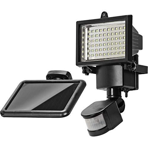 Luz solar 60SMD PIR Sensor de movimiento Luz de seguridad Proyector para garaje Jardín al aire libre 750 lúmenes Ultra brillante 25 metros Detección de largo alcance Eliminación errónea de animales
