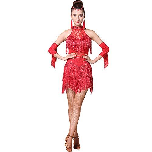 KINLOU Vestidos Sexy Encaje de Moda para Mujer - Vestido
